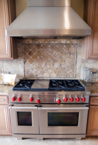 Gas Stove with Double Oven